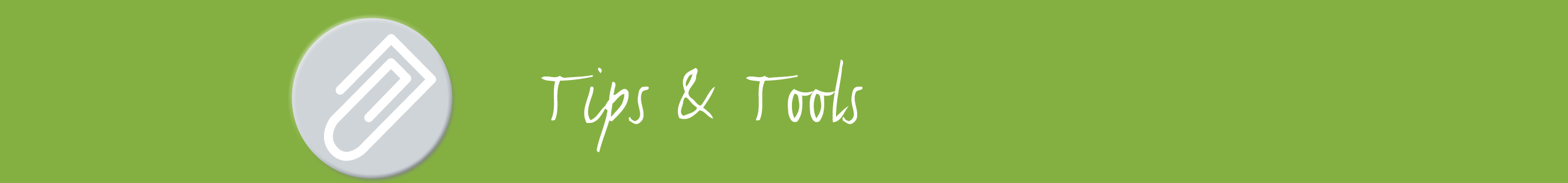 tips and tools banner image